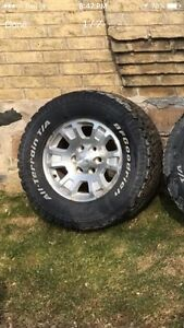 265 70  17 bfg all terrain tires and rims