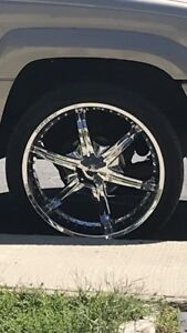 24inch diablo rims and tires