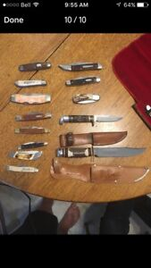 Collector Knives. Case xx pocket knife collection