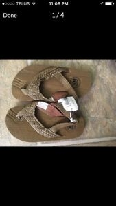 Old navy sandals brown canvas new with tags 7 toddler boy shoes