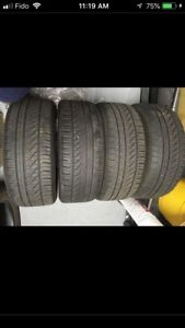 205.55.16 set 4 summer tire with 70% on them