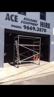 Hire aluminium mobile scaffolding and steel road plates
