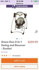 Grace Duo 2 in 1 Swing and Bouncer - Zoofari