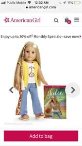 """GENUINE American Girl Doll """"Julie"""" + dog/clothes EASTER GIFT!"""