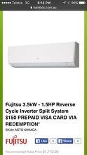 New Fujitsu 3.5kW - 1.5HP Reverse Cycle Inverter Split RRP $1710 Ballajura Swan Area Preview