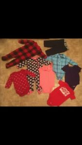 Baby clothes. Mostly onesies. Sizes 3mos-12-18mos