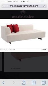 Marie Claire Couch/ sofa/ lounge /daybed /Chesterfield gunmetal grey Burleigh Waters Gold Coast South Preview