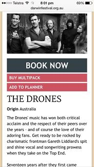 3 x The drones tickets at Darwin festival  Karama Darwin City Preview