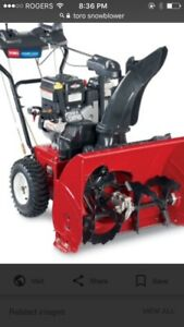 Wanted to buy snowblowers with blown motor etc