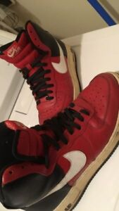 Red Nike Air Force 1's good condition size 10