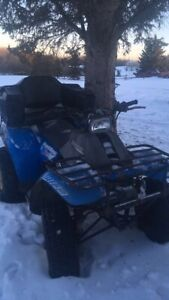 Trail boss quad with winch and seat