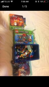 Two Minecraft Lego sets