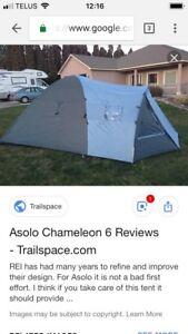 "New Tent - 6  person 2 room large vestibule ""Asolo Chameleon"""