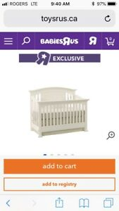 Cache Windsor Convertible Crib (white)