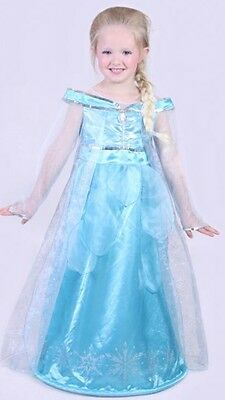 Disney Paris Frozen Elsa Dress Up Halloween Costume Sizes Ages 6, 8, 10, 12 New - Elsa Halloween Costume Size 10-12