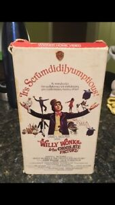 Willy Wonka & The Chocolate Factory VHS 1971