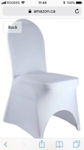 100 White Banquet Chair Covers