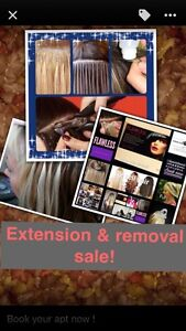 Hair extension removal sale!