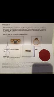 Ladies diamond rigs women's diamond ring Engagement ring  Southbank Melbourne City Preview