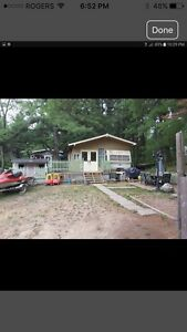 Trailer and lot