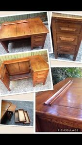 Retro desk antique type writers desk solid timber Bexley Rockdale Area Preview