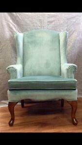 Vintage mint Wing Back Chair
