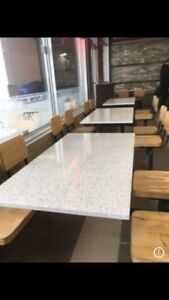 Imitation Marble Tables, Counters