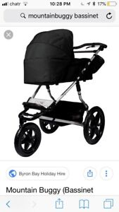 Mountain buggy with bassinet only mb1u1 urban jungle stroller
