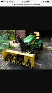 Tractor blower