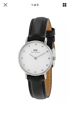 Daniel Wellington Classic Sheffield White Dial SS Leather Women Watch 0921DW