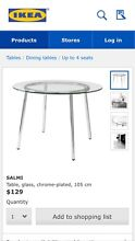 Glass Top Dining Table Rocklea Brisbane South West Preview