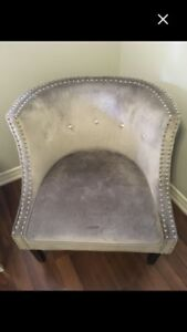 BRAND NEW GREY LUCY CHAIR