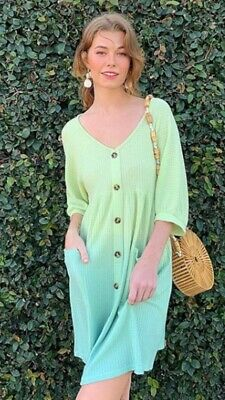Women's Umgee Ombre Waffle Knit Dress. Size Large. People Are Free Boutique.