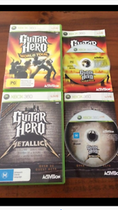 Guitar Hero Xbox360 World Tour & Metallica games East Maitland Maitland Area Preview