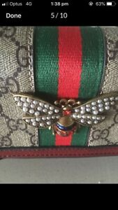 GUCCI  GEM STUDDED BUTTERFLY FRONT FOR HIP YOUNG LADIES & DUSTBAG   West End Brisbane South West Preview
