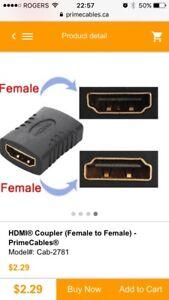 Wanted HDMI coupler (female-female)