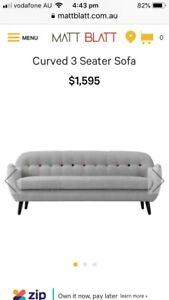 Matt Blatt 3 seater sofa