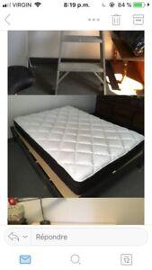 Base de lit et matelas double