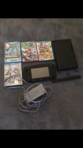 Nintendo Wii u 32gb comes with 5 games