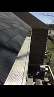 Roof repair, eavestrough cleaning, gutter guard installation.