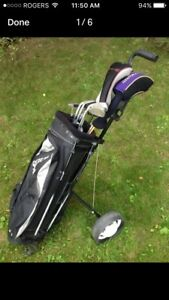 Right hand quality golf clubs, bag, cart, all u need