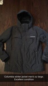 Columbia winter jacket men's size large