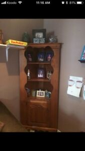 Solid Wood Corner Shelf