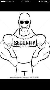 I'm looking for work as a security guard