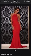 Red backless formal gown Wanniassa Tuggeranong Preview