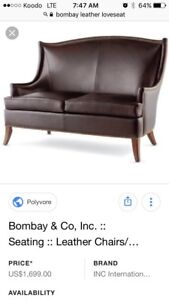 Causeuse sofa cuir BOMBAY leather