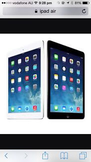 Wanted! Apple iPad air up to $ 250 cash Riverton Canning Area Preview