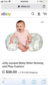 Jolly Jumper Breastfeeding Pillow - Lion & Bear Pattern!