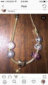 Gold Pandora Bracelet (worth $475)