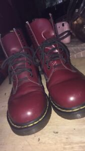 Rarely worn cherry red doc martens